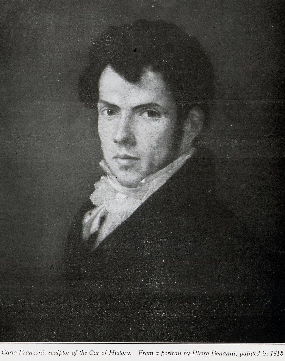 Carlo Franzoni, sculptor of Car of History
