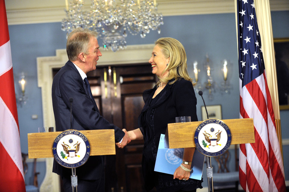 Secretary Clinton Meets With Danish Foreign Minister Sovndal