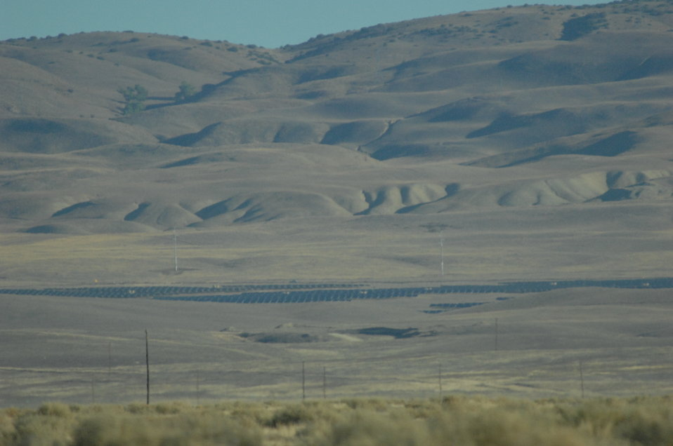 California Valley Solar Ranchfrom Afar on the Carrizo Plain