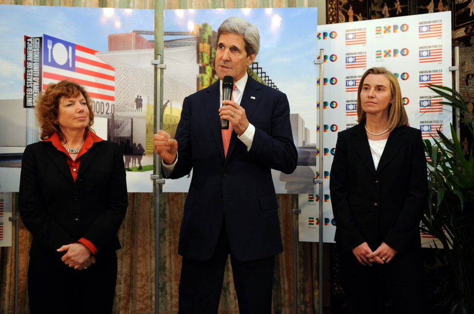 Secretary Kerry and Italian Foreign Minister Mogherini Discuss U.S. Participation in Milan Expo 2015