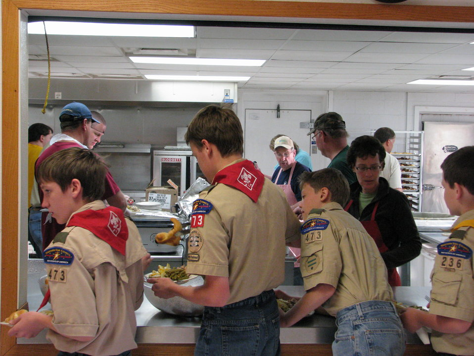 Boy Scouts ready to feast