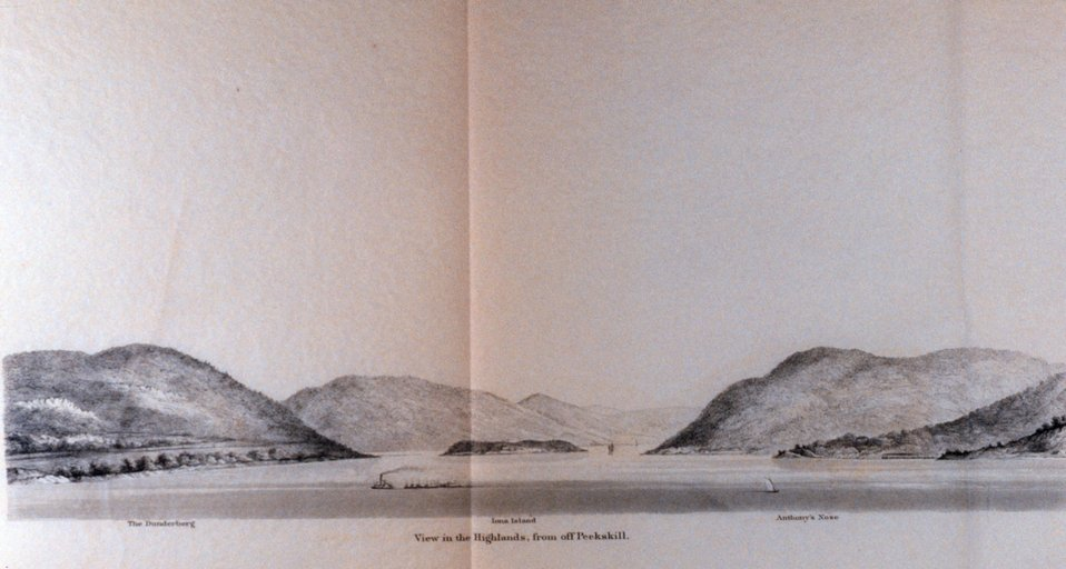 View of the Highlands from off Peekskill.  On the Hudson River.  In: Atlantic Local Coast Pilot Sub-Division 13 South Coast of Long Island New York Bay and Hudson River 1880.  P. 600.  Library Call Number VK981.A3 1879 Sub-13 2nd ed. 1880.