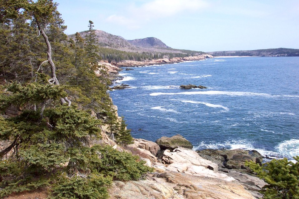 Looking north to the Sand Beach area from the Otter Cliffs.