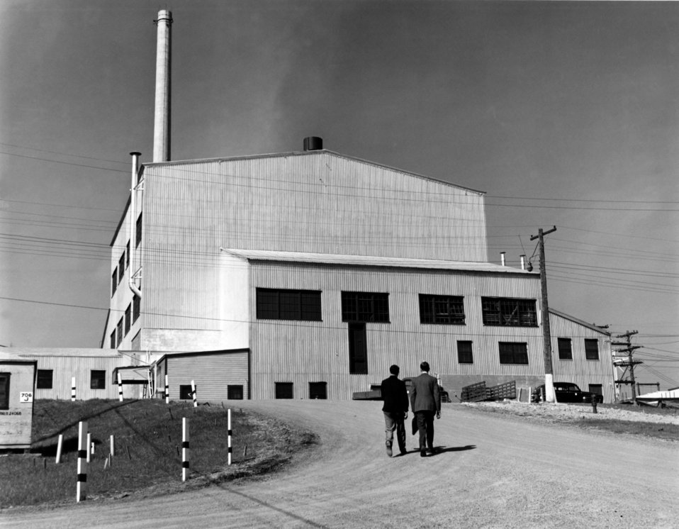 Exterior View of Graphite Reactor Oak Ridge