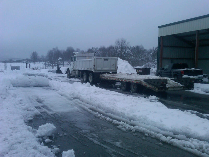 Hurricane Sandy snows at Canaan Valley National Wildlife Refuge (WV)