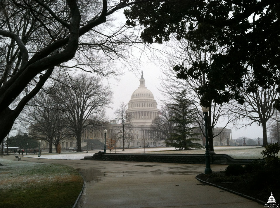 Capitol Building with Snow Dusting March 2013