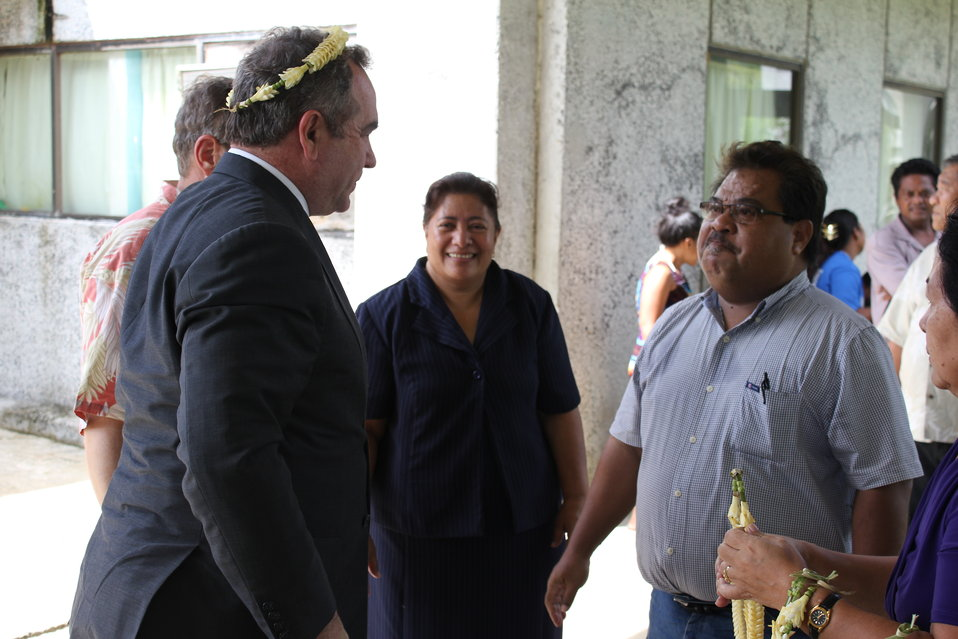 Assistant Secretary Campbell Is Greeted By Pohnpei State Governor Ehsa and Dr. Keller