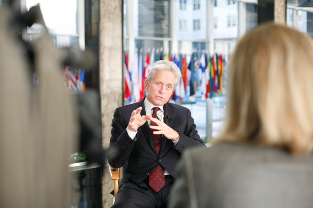 Deputy Assistant Secretary Esser Speaks With Actor Michael Douglas