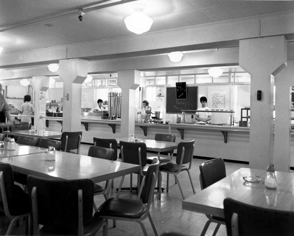 Cafeteria in Old AEC Adm. Bldg. Oak Ridge