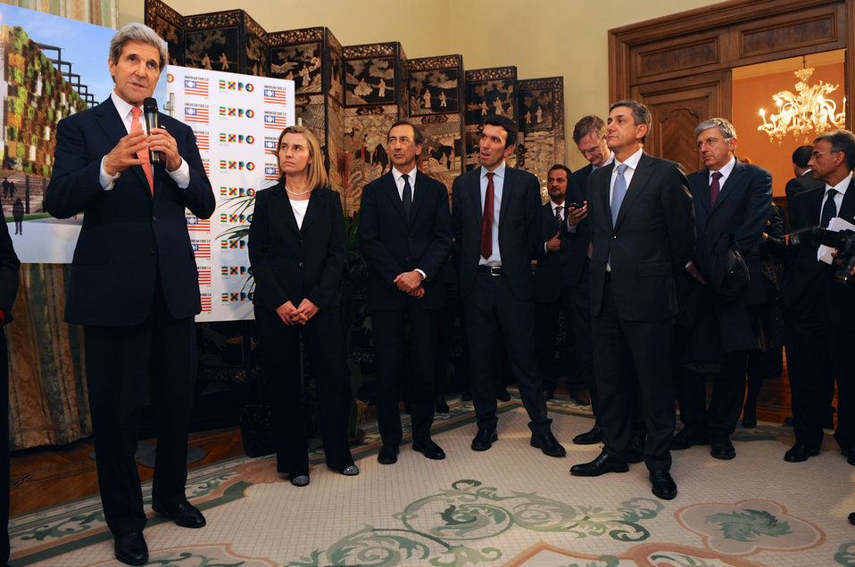 Secretary Kerry and Italian Foreign Minister Mogherini Salute U.S. Participation in Milan Expo 2015