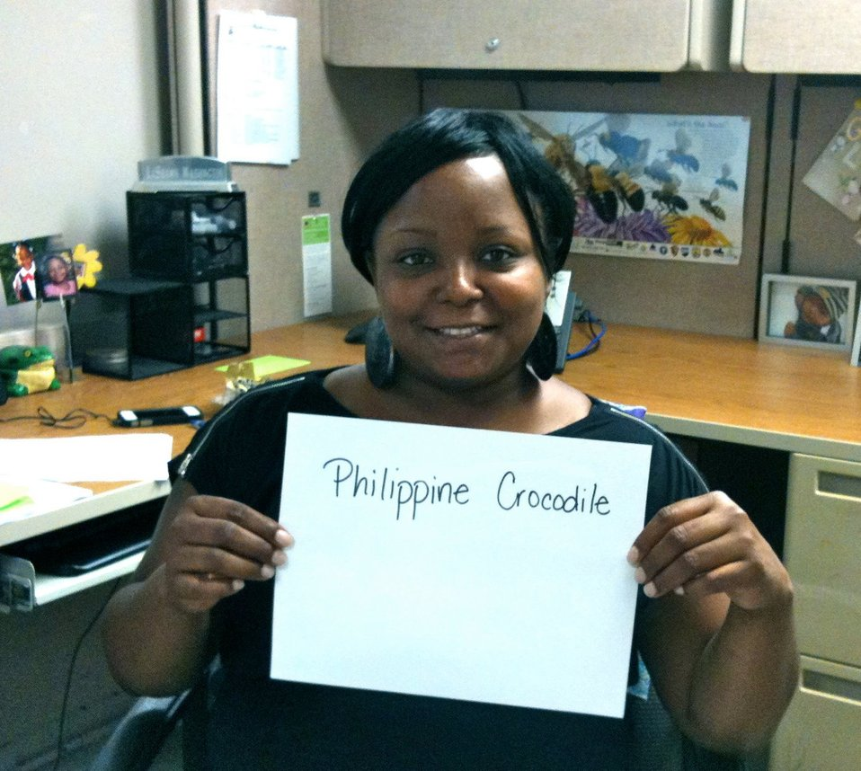 LaShawn Washington, 'Philippine Crocodile,' Credit: USFWS