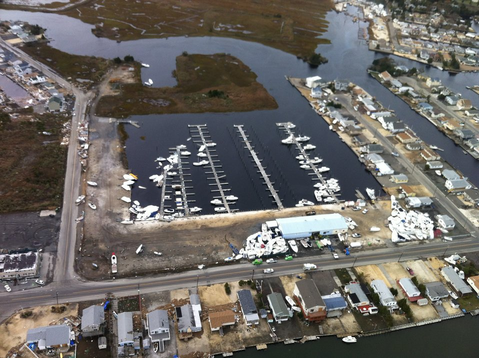 Aerial photo of marina near Edwin B. Forsythe National Wildlife Refuge (NJ)