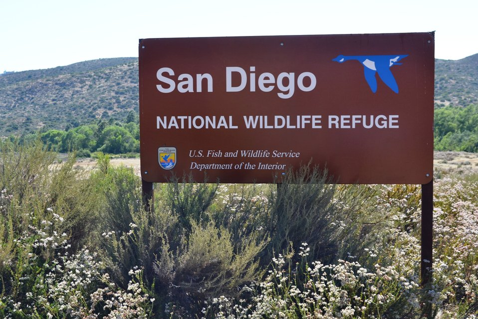 Refuge entrance sign