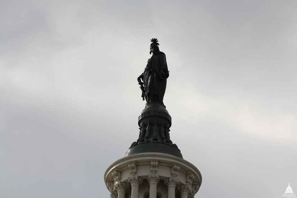 Statue of Freedom November 2013