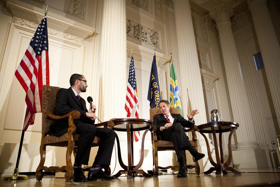 Secretary Geithner Speaks at the Portland City Club