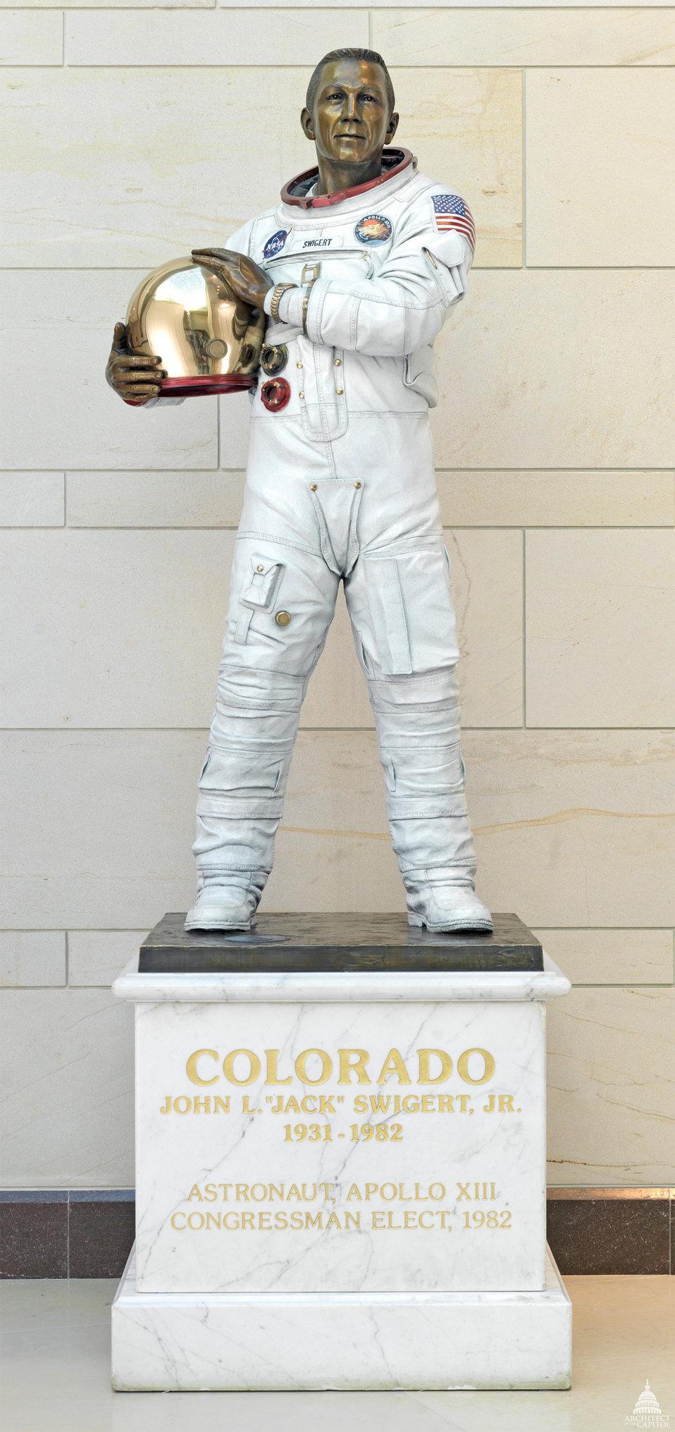 John L. Swigert Statue