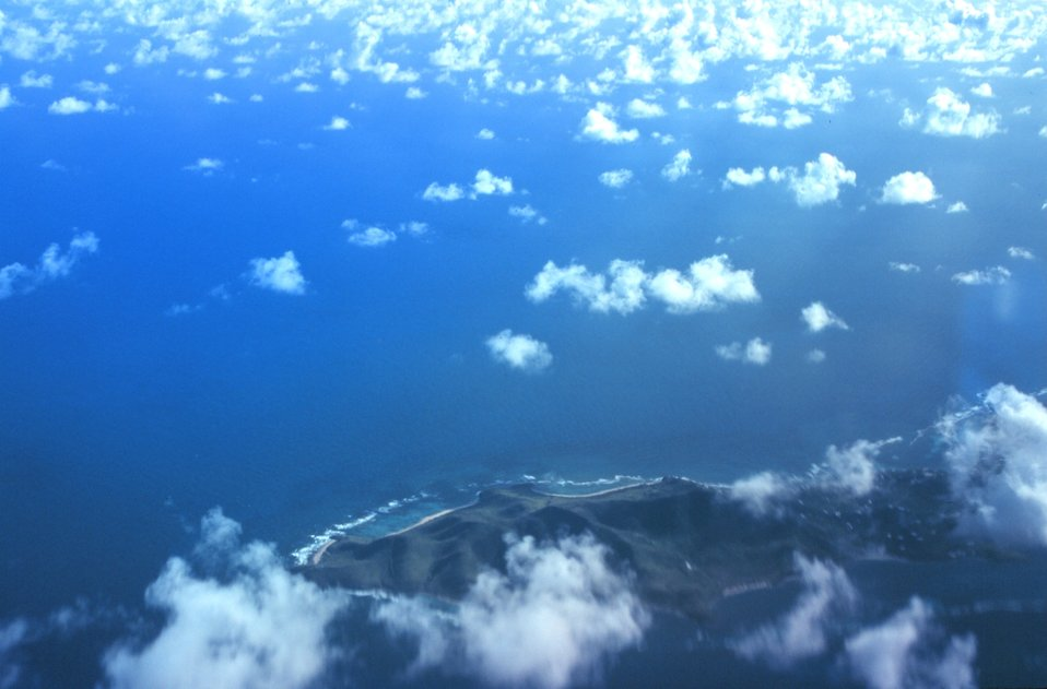 Aerial view of Udall Point at the east end of St. Croix.