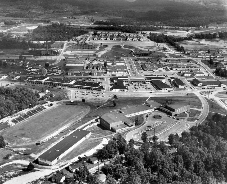 Air View of Jackson Square and High School Looking South Oak Ridge