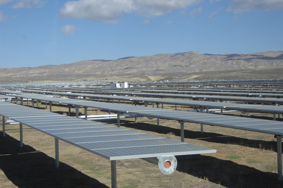 Solar Panels at California Valley Solar Ranch 1