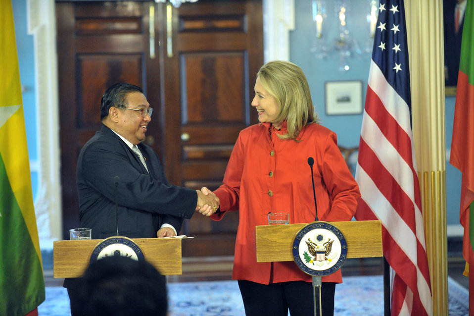 Secretary Clinton Meets With Burmese Foreign Minister U Wunna Maung Lwin