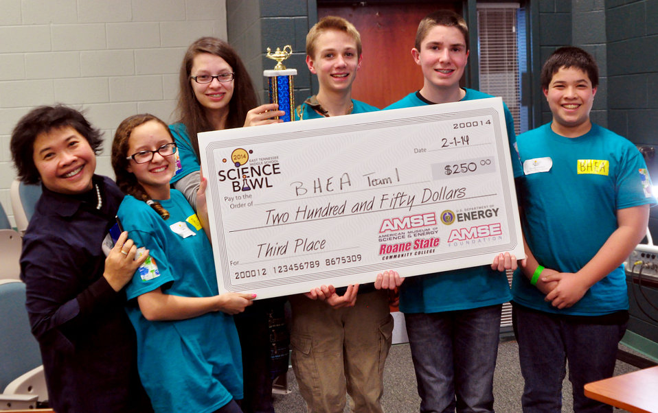 Blount Home Education Association Third Place DOE Middle School Science Bowl