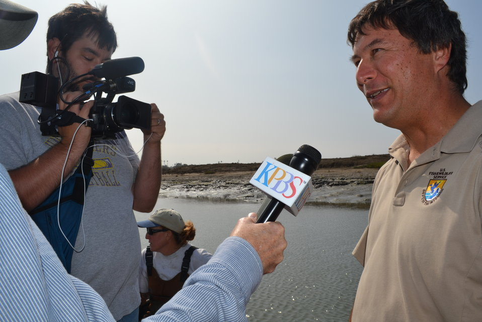 Project Leader of San Diego NWR Complex gets interviewed by KPBS