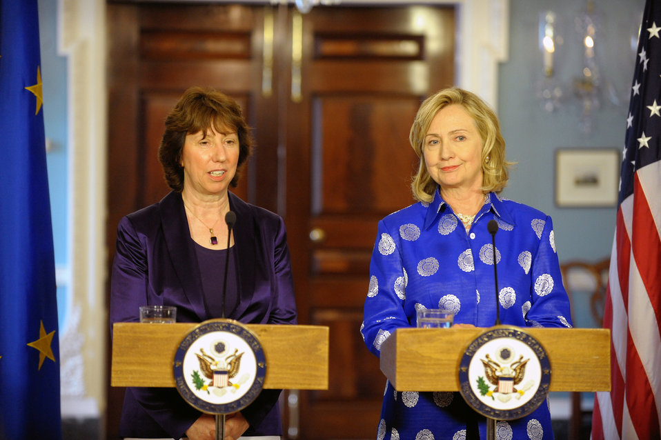 Secretary Clinton and EU High Representative Ashton Hold a Joint Press Conference