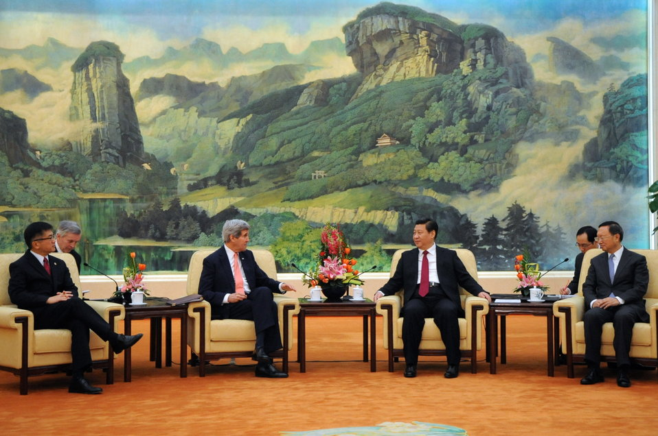 Secretary Kerry Meets With Chinese President Xi