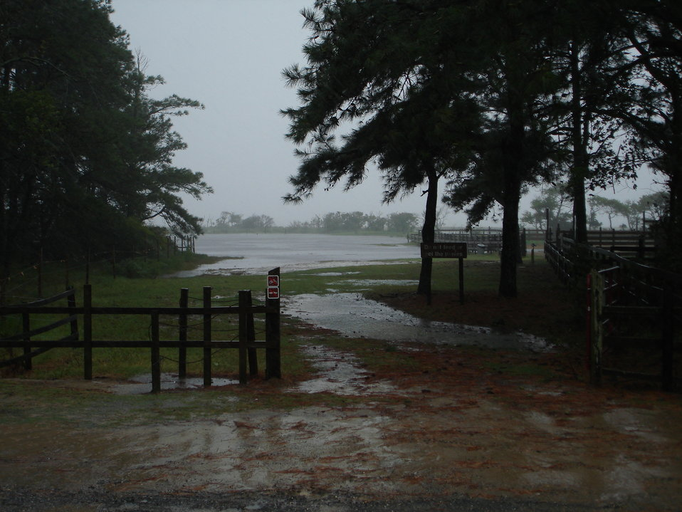 Flooded pony corral
