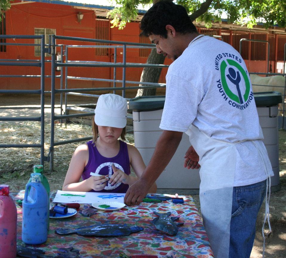 YCC crew member at the California State Fair booth