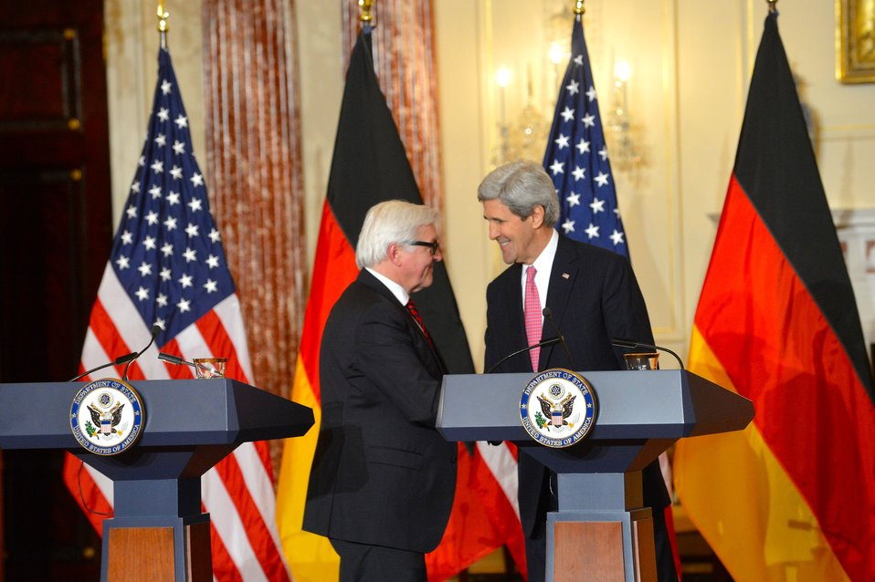 Secretary Kerry and German Foreign Minister Steinmeier Address Reporters