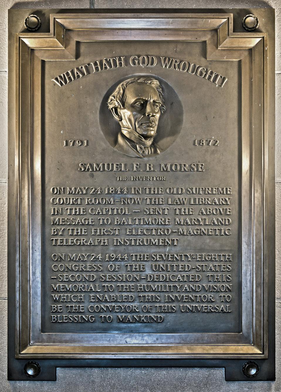 Telegraph Centennial Plaque