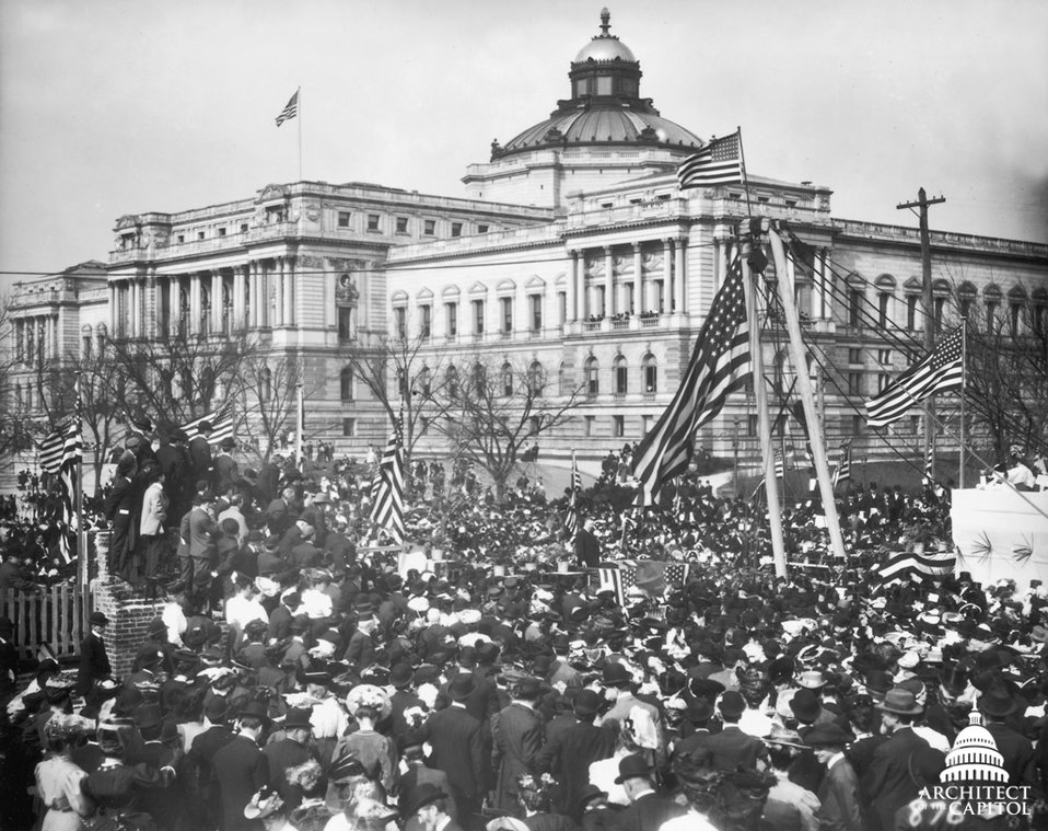 Teddy Roosevelt Lays Cornerstone of Cannon House Office Building 1906