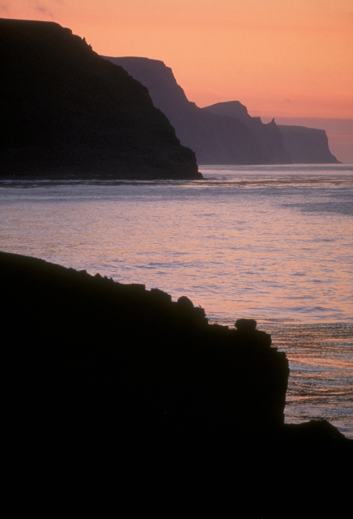 Pribilof sunset, Alaska Maritime NWR