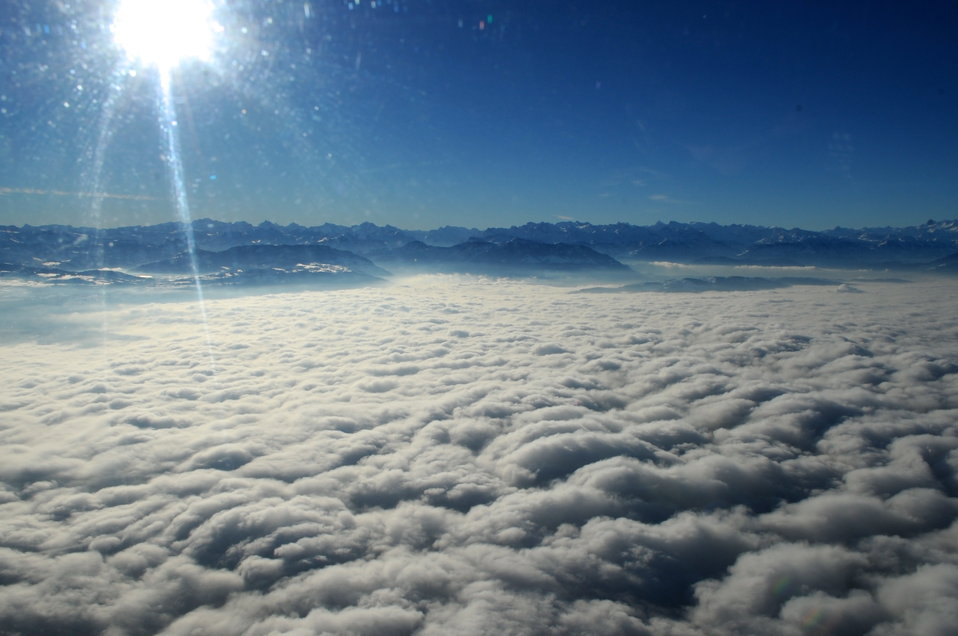 Cloud Blanket between Davos and Zurich