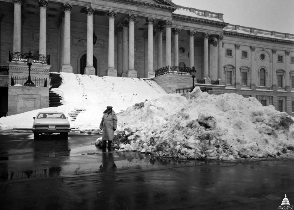 Snow Pile on Capitol East Front Plaza 1979