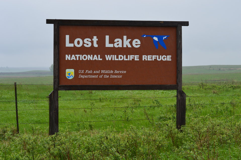 Lost Lake NWR sign
