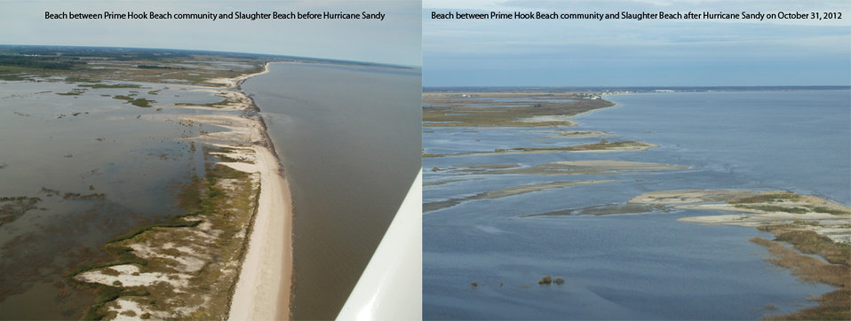 Hurricane Sandy impacts Prime Hook National Wildlife Refuge (DE)