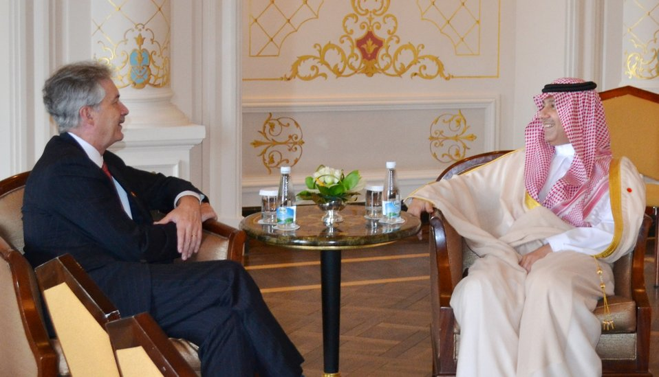 Deputy Secretary Burns Meets With Head of Saudi Arabia Delegation