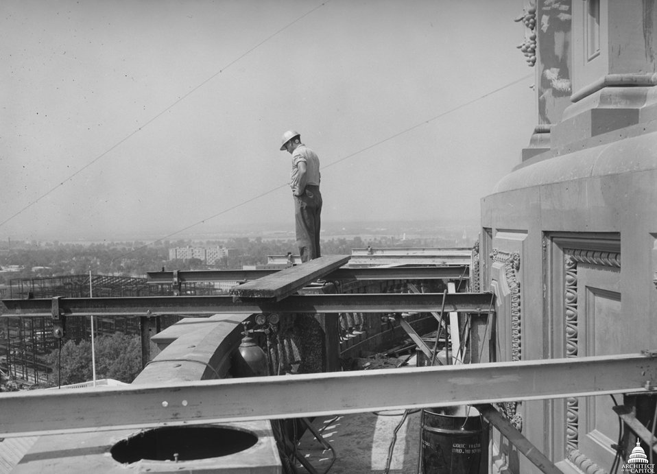Capitol Dome Restoration Work 1959-1960