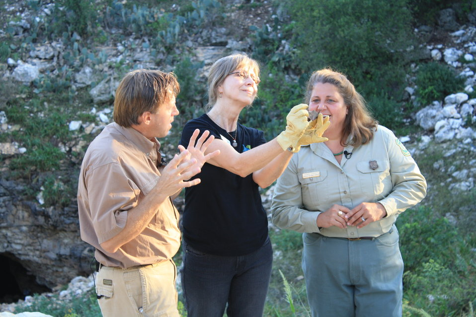 BCI and US Forest Service staff during broadcast