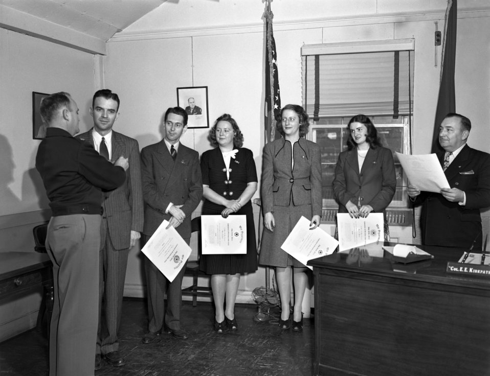 Meritorous Service Awards Oak Ridge 1947