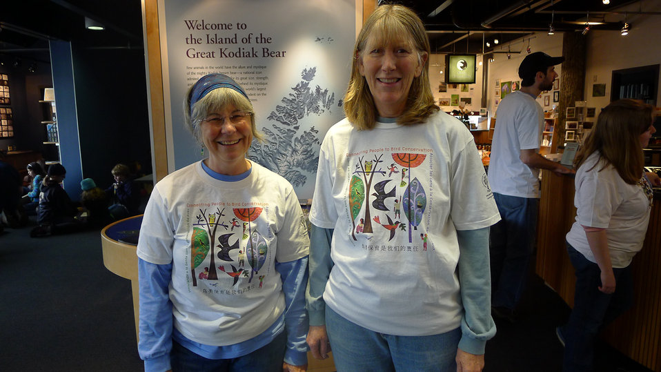 Kodiak Audubon members volunteer at International Migratory Bird Day