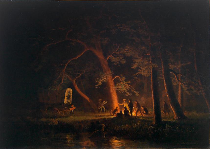 Campfire (Albert Bierstadt), 1863.jpg