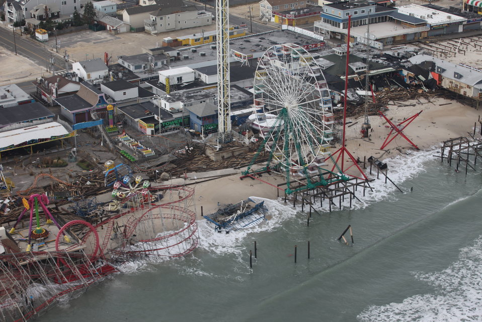Damage to New Jersey shore amusement park