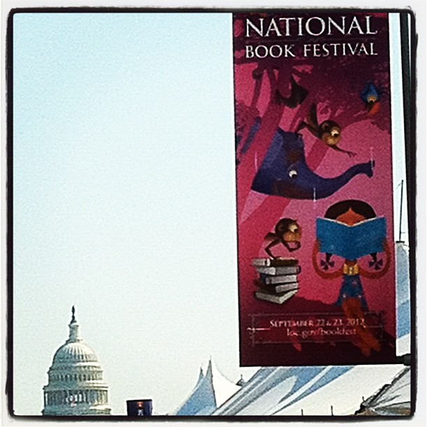 Visit the LOC #natbookfest today and Sunday on Mall.