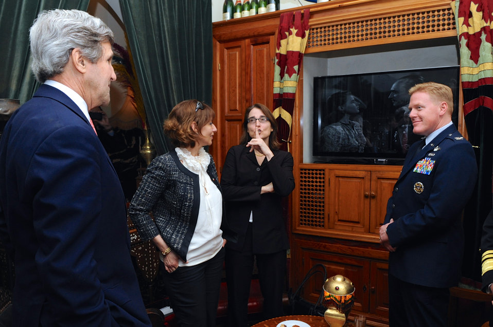 Secretary Kerry Views 'Casablanca' During Visit to Rick's Cafe in Morocco