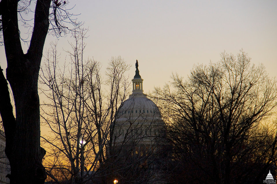 Sunset in December at the Capitol