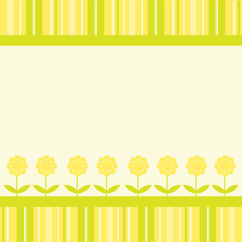 Floral stripes card