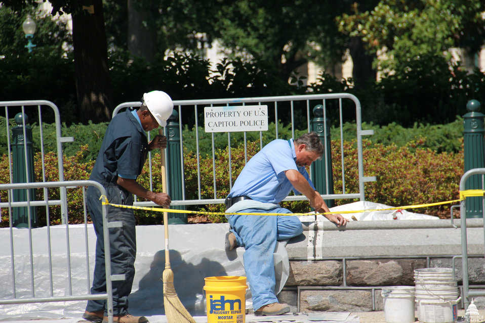 AOC Stone Masons at Work
